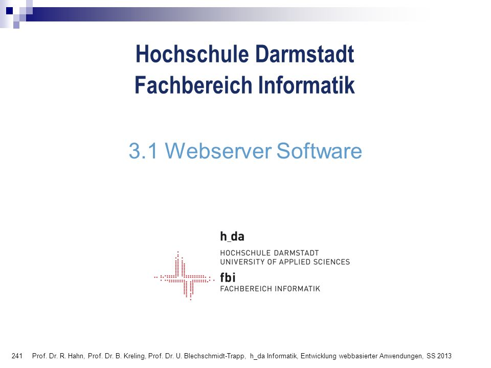 3.1 Webserver Software