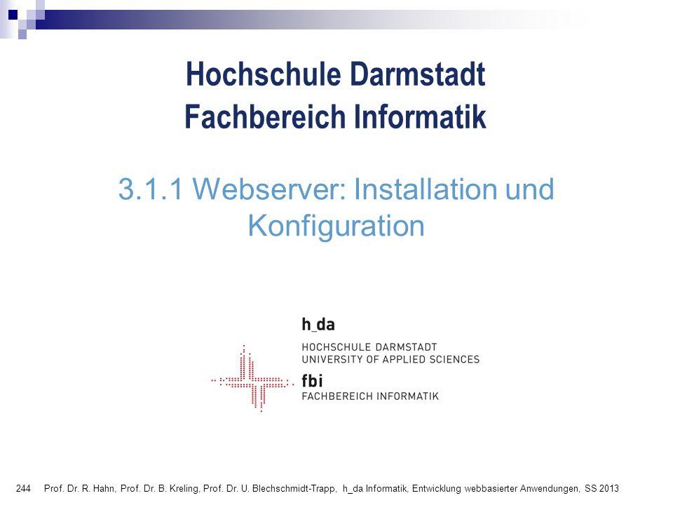 3.1.1 Webserver: Installation und Konfiguration
