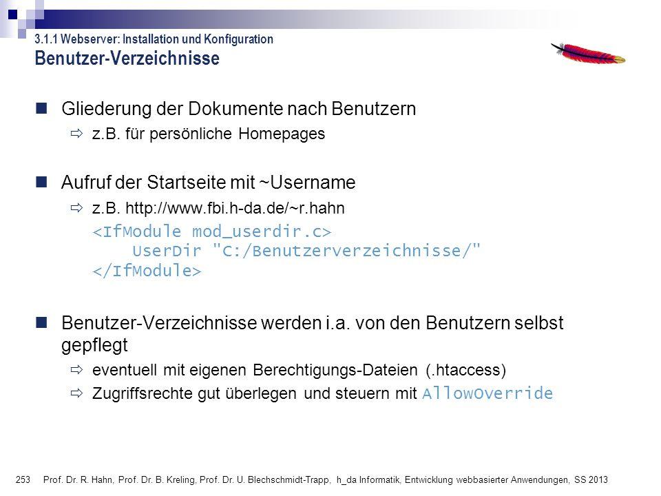 Benutzer-Verzeichnisse