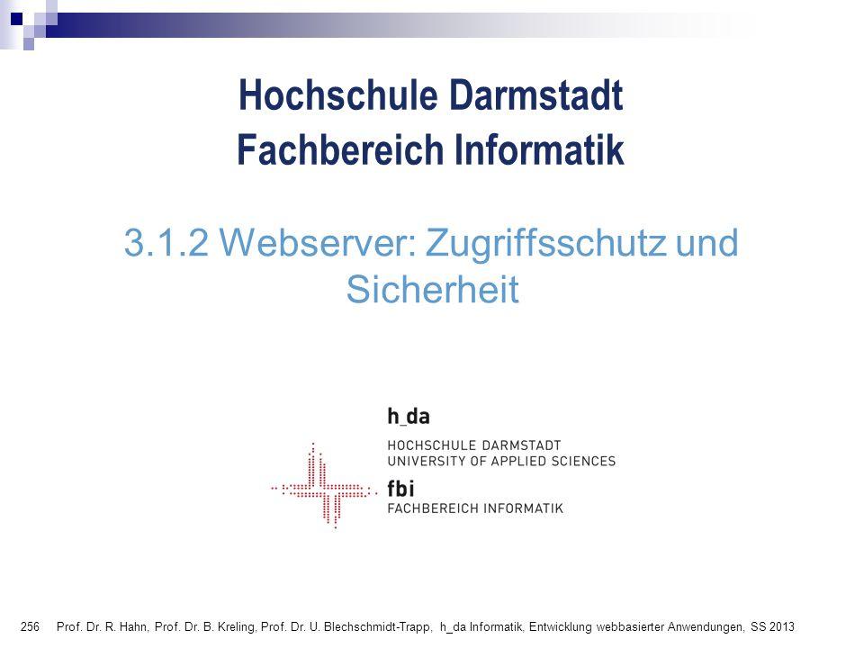3.1.2 Webserver: Zugriffsschutz und Sicherheit