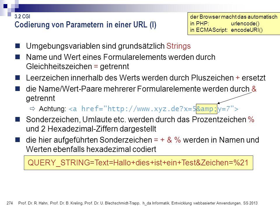 Codierung von Parametern in einer URL (I)