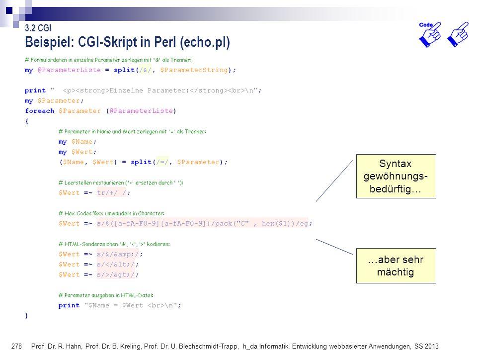 Beispiel: CGI-Skript in Perl (echo.pl)