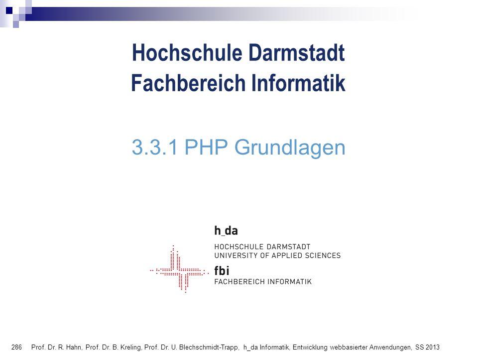 3.3.1 PHP Grundlagen