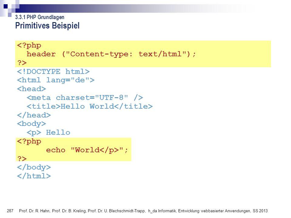 Primitives Beispiel 3.3.1 PHP Grundlagen.