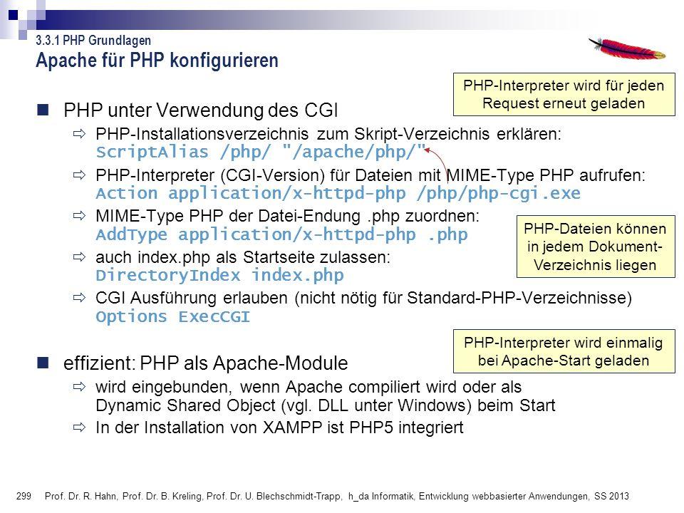 Apache für PHP konfigurieren
