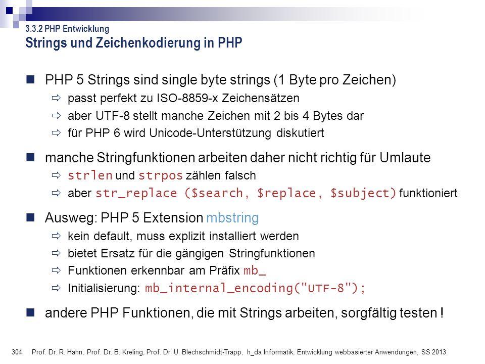 Strings und Zeichenkodierung in PHP