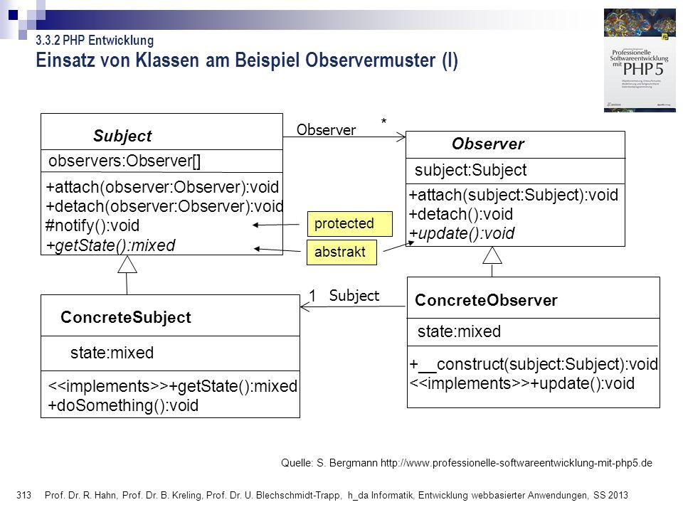 Einsatz von Klassen am Beispiel Observermuster (I)