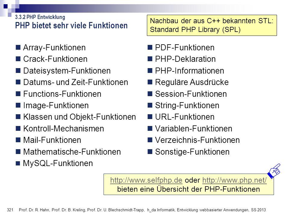 PHP bietet sehr viele Funktionen
