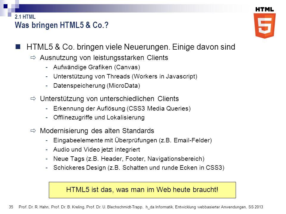 HTML5 ist das, was man im Web heute braucht!
