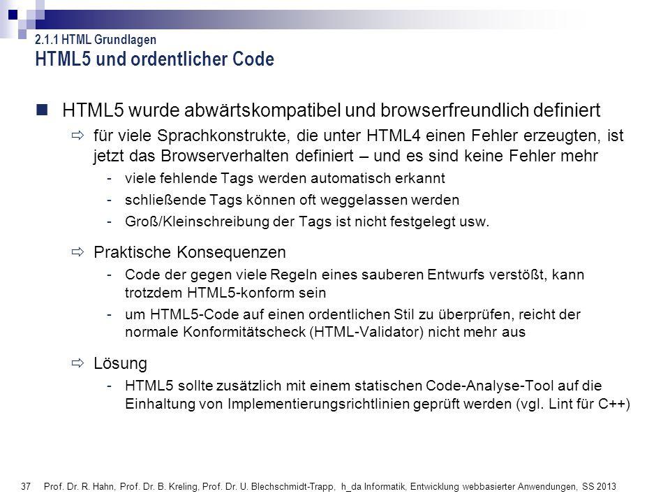 HTML5 und ordentlicher Code