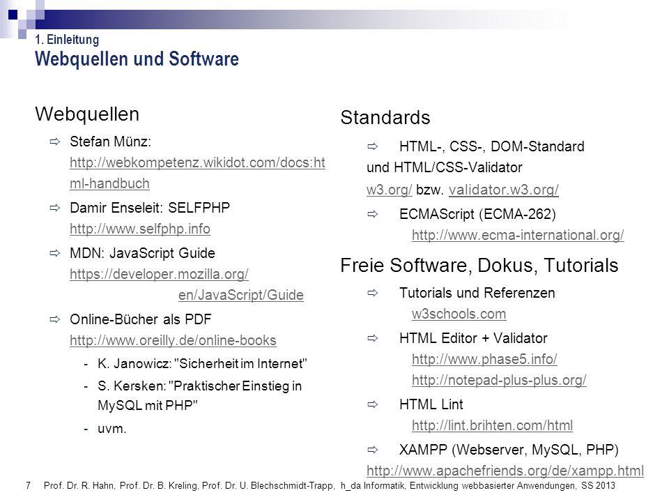 Webquellen und Software