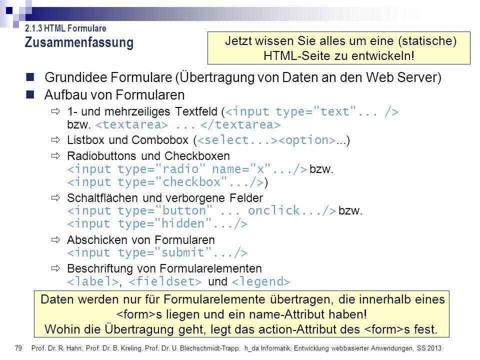 Jetzt wissen Sie alles um eine (statische) HTML-Seite zu entwickeln!