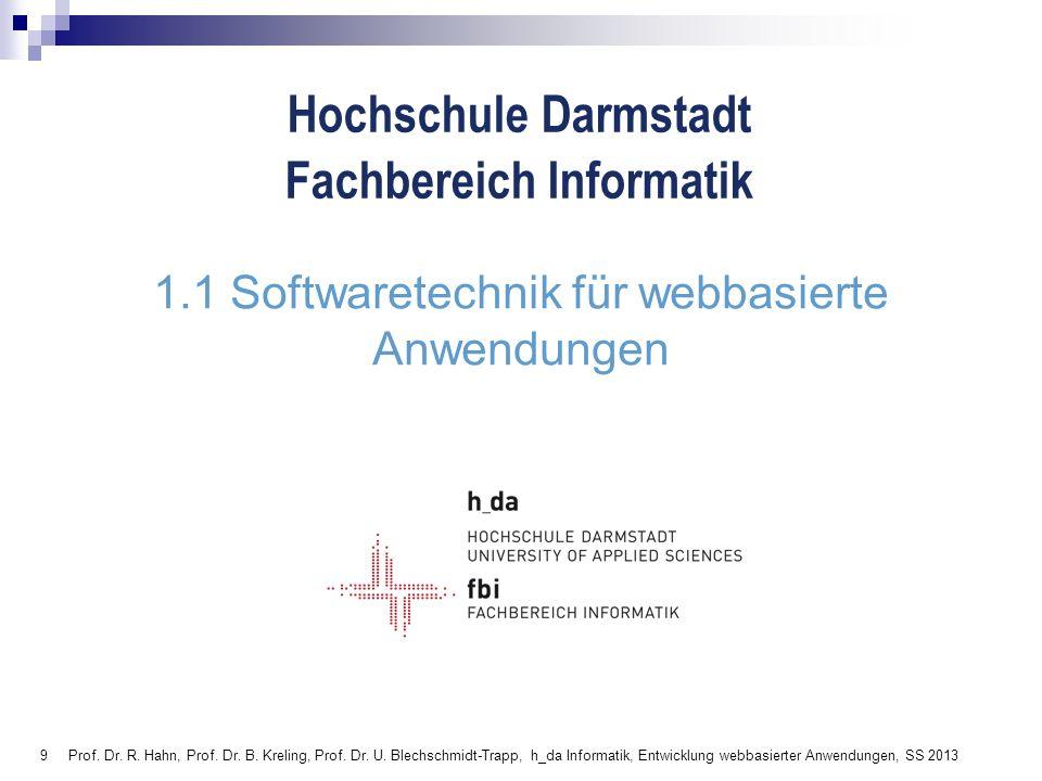 1.1 Softwaretechnik für webbasierte Anwendungen