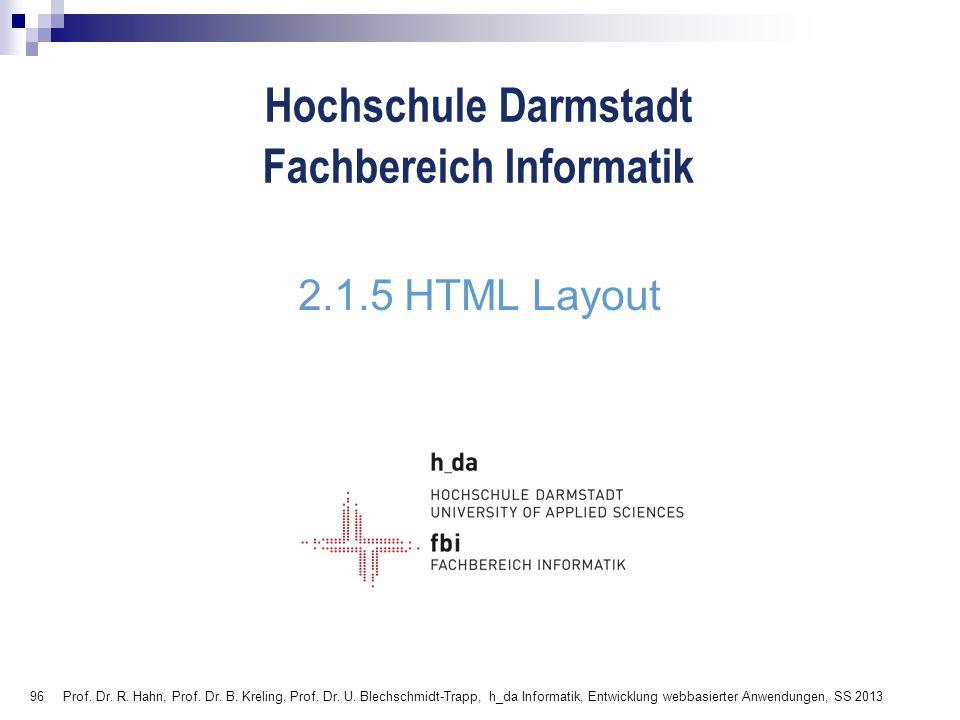 2.1.5 HTML Layout
