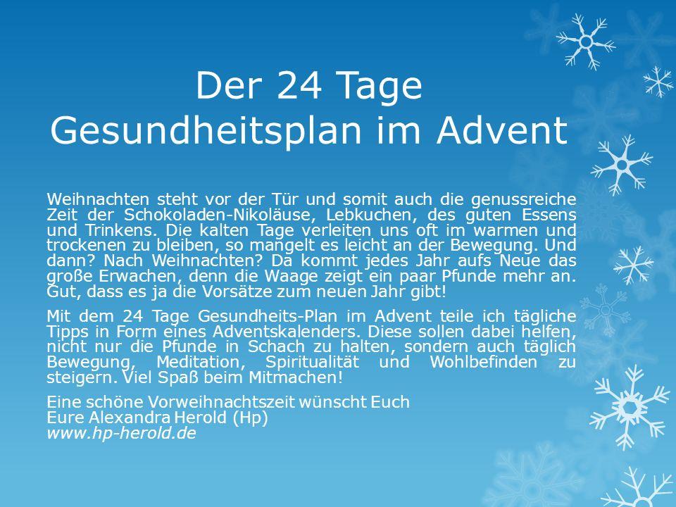 Der 24 Tage Gesundheitsplan im Advent