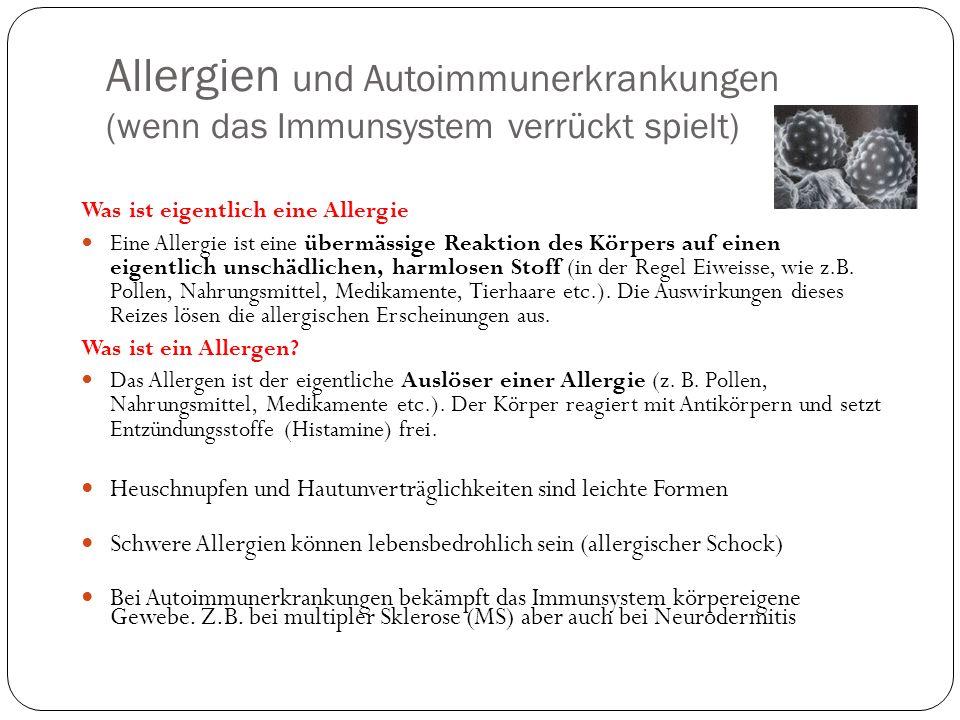 Allergien und Autoimmunerkrankungen (wenn das Immunsystem verrückt spielt)