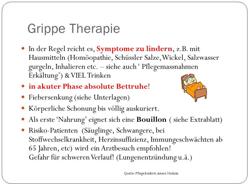 Grippe Therapie