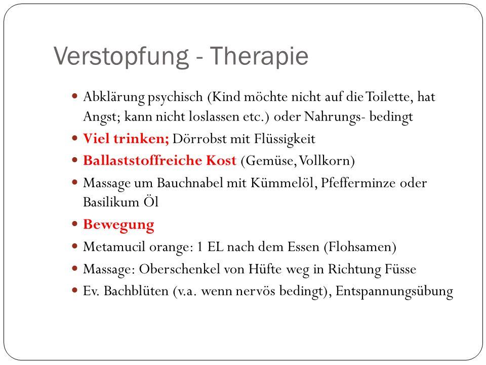Verstopfung - Therapie