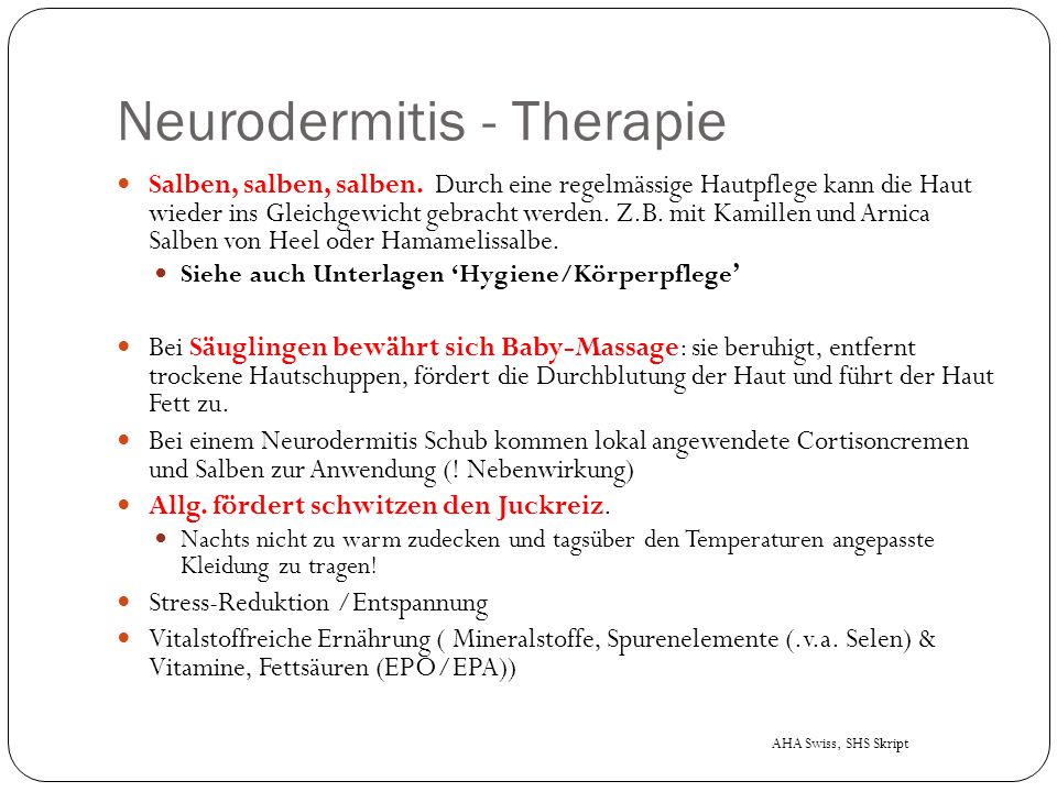 Neurodermitis - Therapie