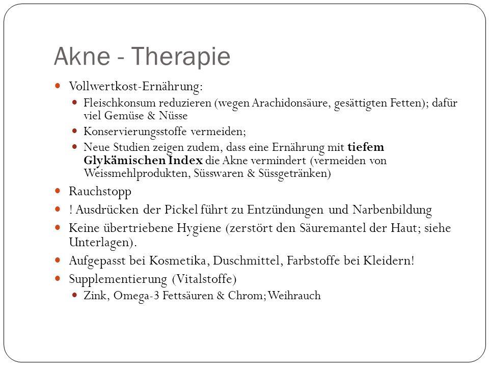 Akne - Therapie Vollwertkost-Ernährung: Rauchstopp
