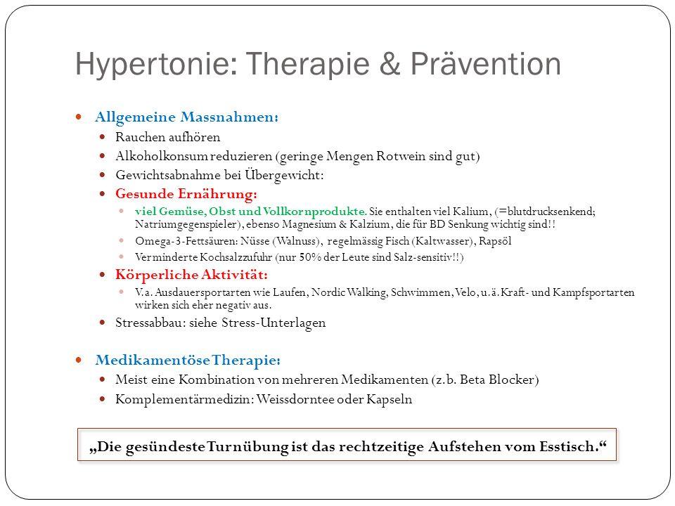 Hypertonie: Therapie & Prävention