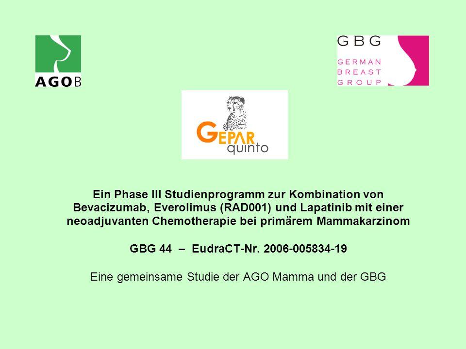 Eine gemeinsame Studie der AGO Mamma und der GBG