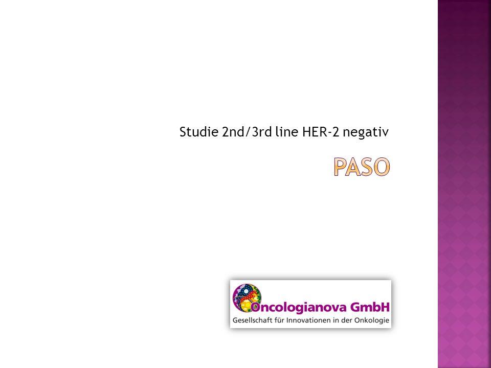 Studie 2nd/3rd line HER-2 negativ