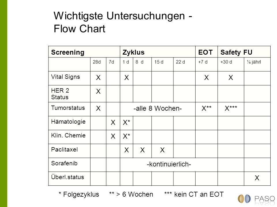 Wichtigste Untersuchungen - Flow Chart