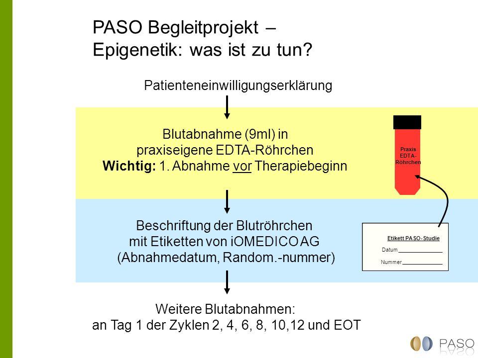 PASO Begleitprojekt – Epigenetik: was ist zu tun