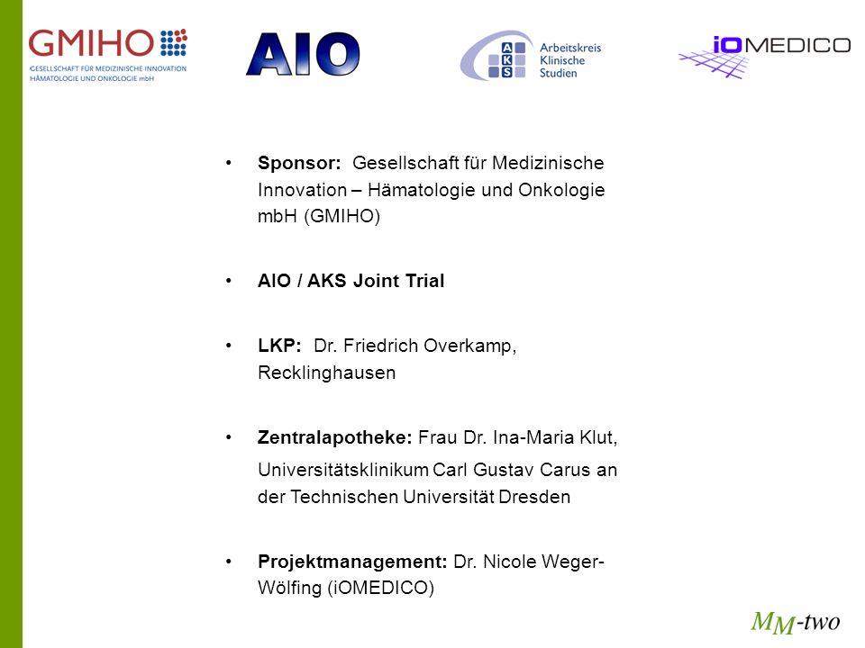 Sponsor: Gesellschaft für Medizinische Innovation – Hämatologie und Onkologie mbH (GMIHO)