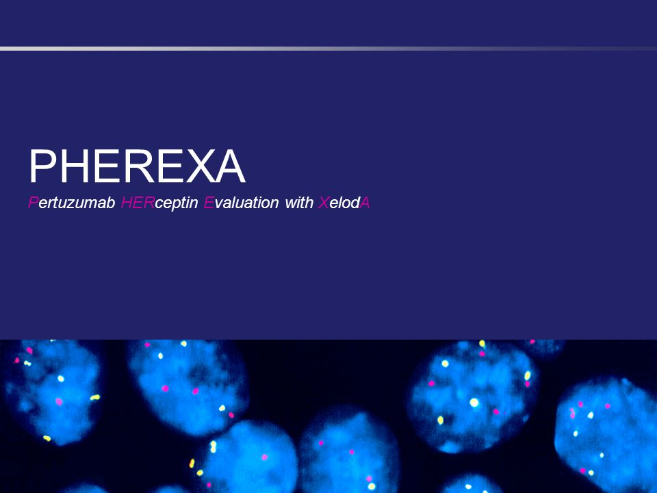 PHEREXA Pertuzumab HERceptin Evaluation with XelodA