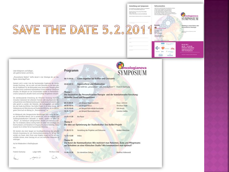 SAVE THE DATE 5.2.2011