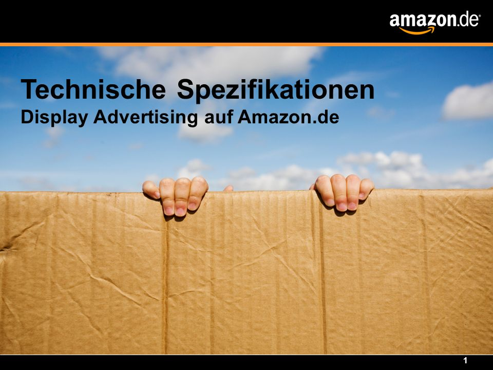 Technische Spezifikationen Display Advertising auf Amazon.de