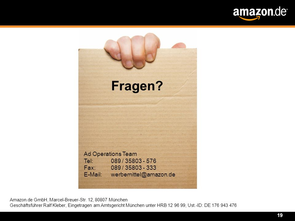 Fragen Ad Operations Team Tel: 089 /