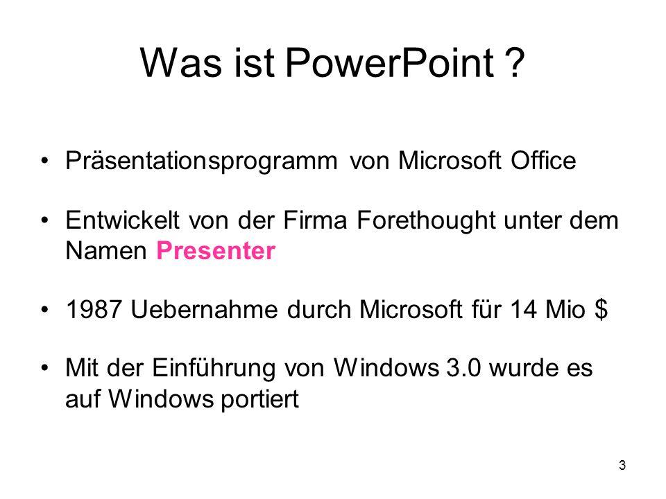 Was ist PowerPoint Präsentationsprogramm von Microsoft Office