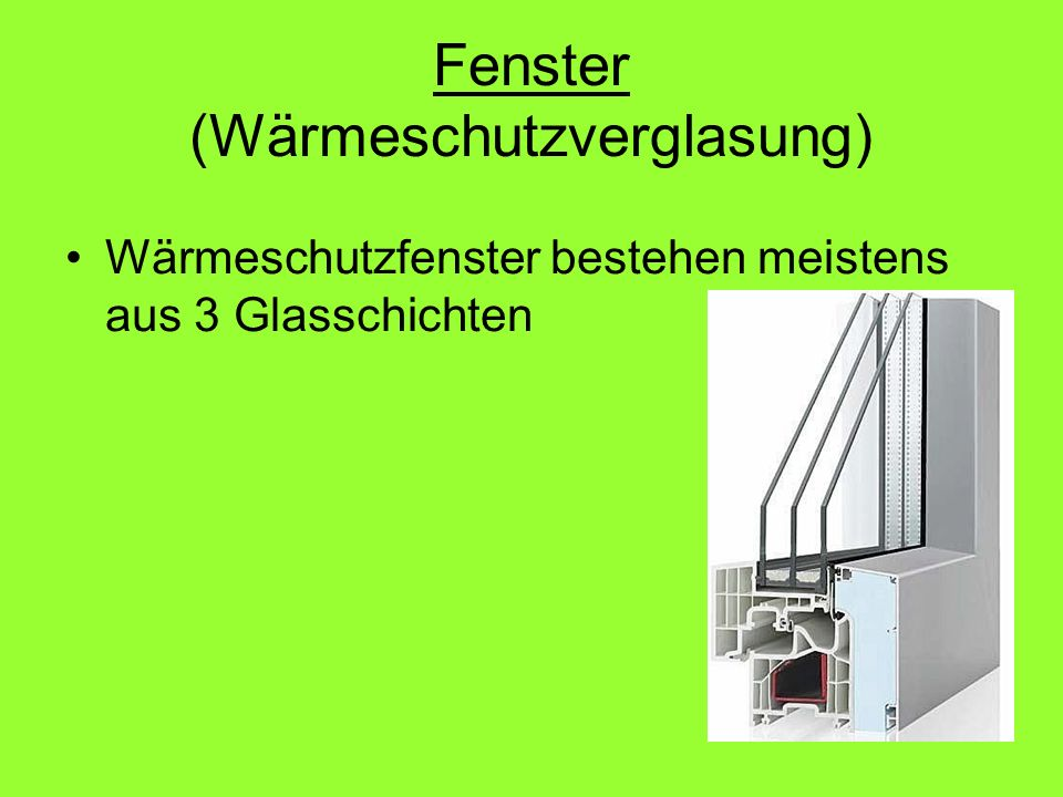Fenster (Wärmeschutzverglasung)