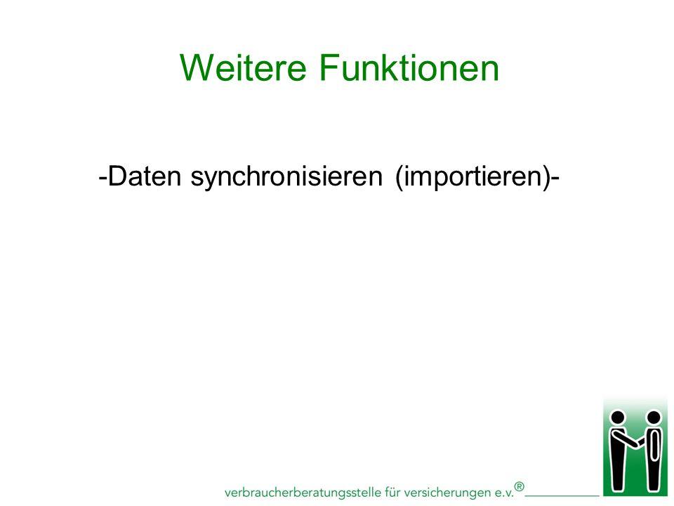 -Daten synchronisieren (importieren)-