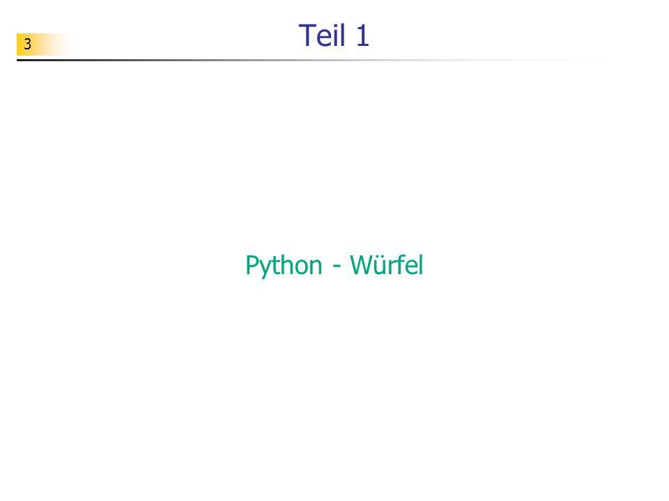 Teil 1 Python - Würfel