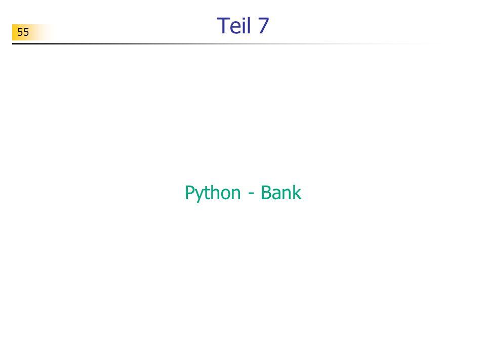 Teil 7 Python - Bank