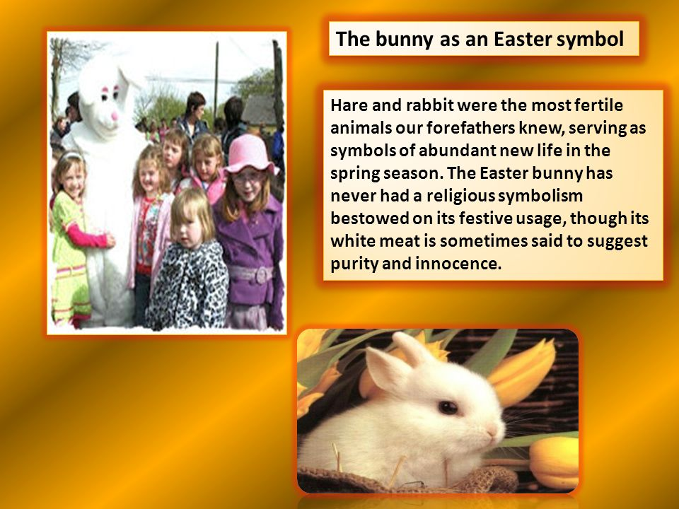 The bunny as an Easter symbol