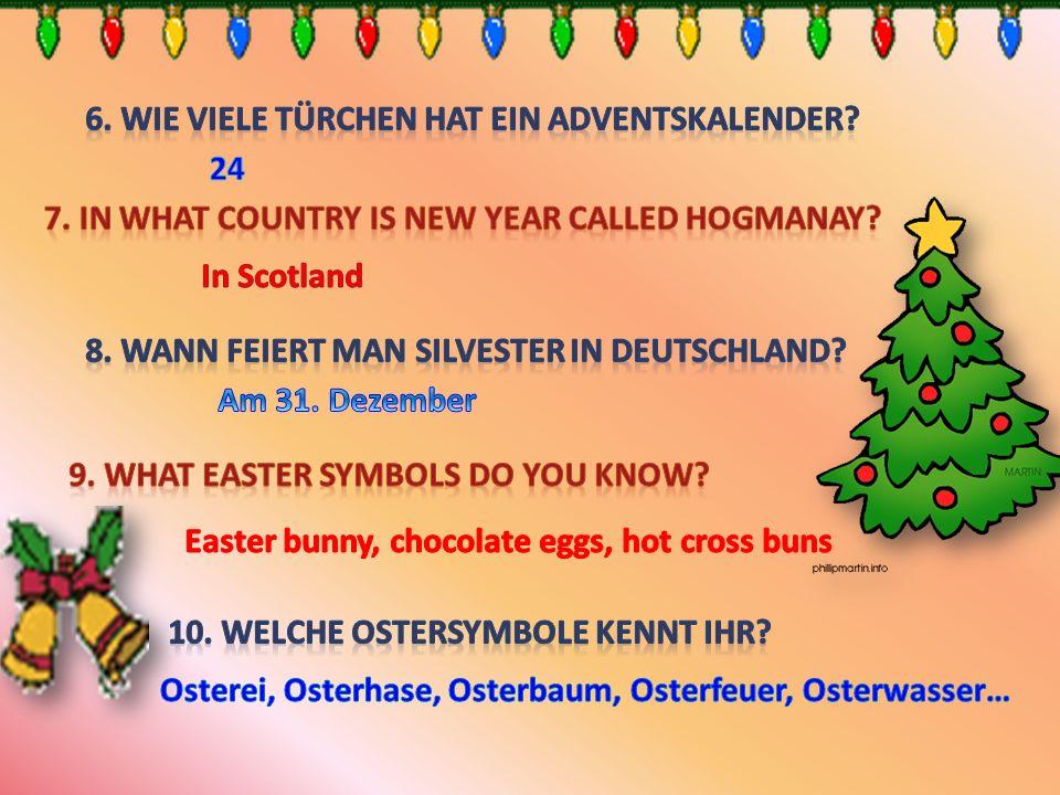 6. Wie viele Türchen hat ein Adventskalender