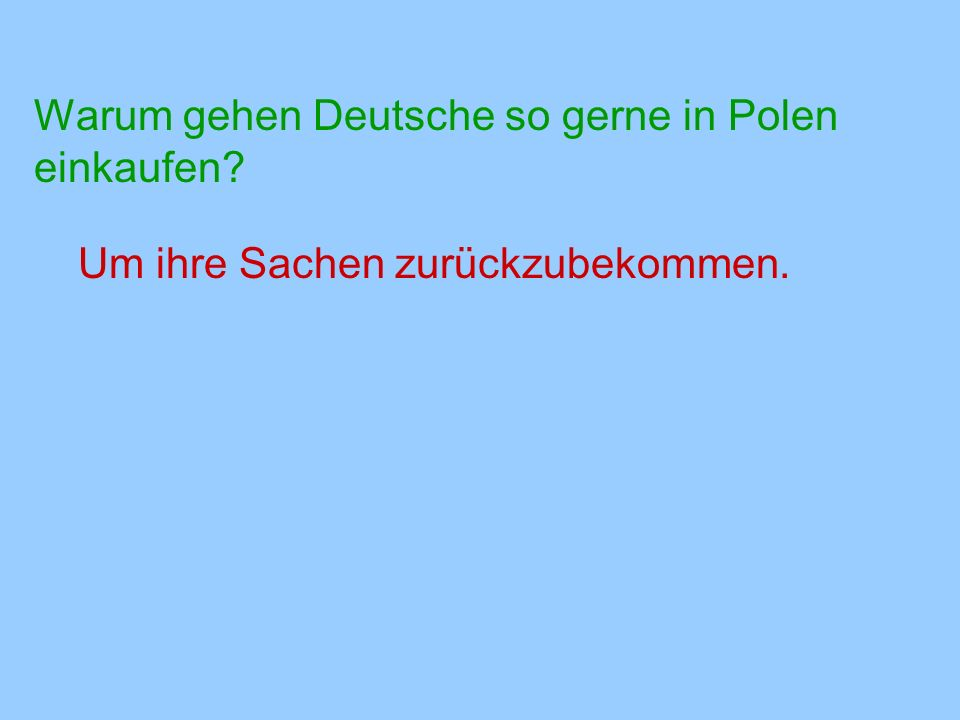Warum gehen Deutsche so gerne in Polen einkaufen