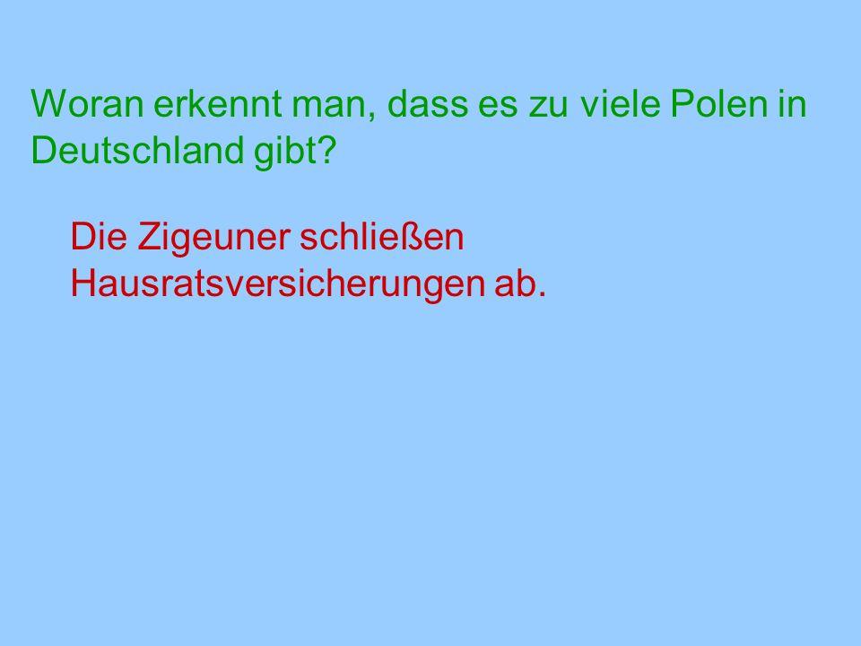 Woran erkennt man, dass es zu viele Polen in Deutschland gibt