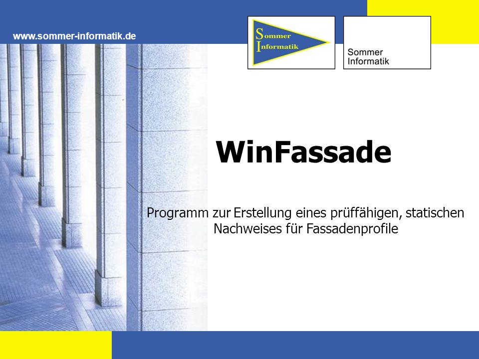 www.sommer-informatik.de WinFassade.