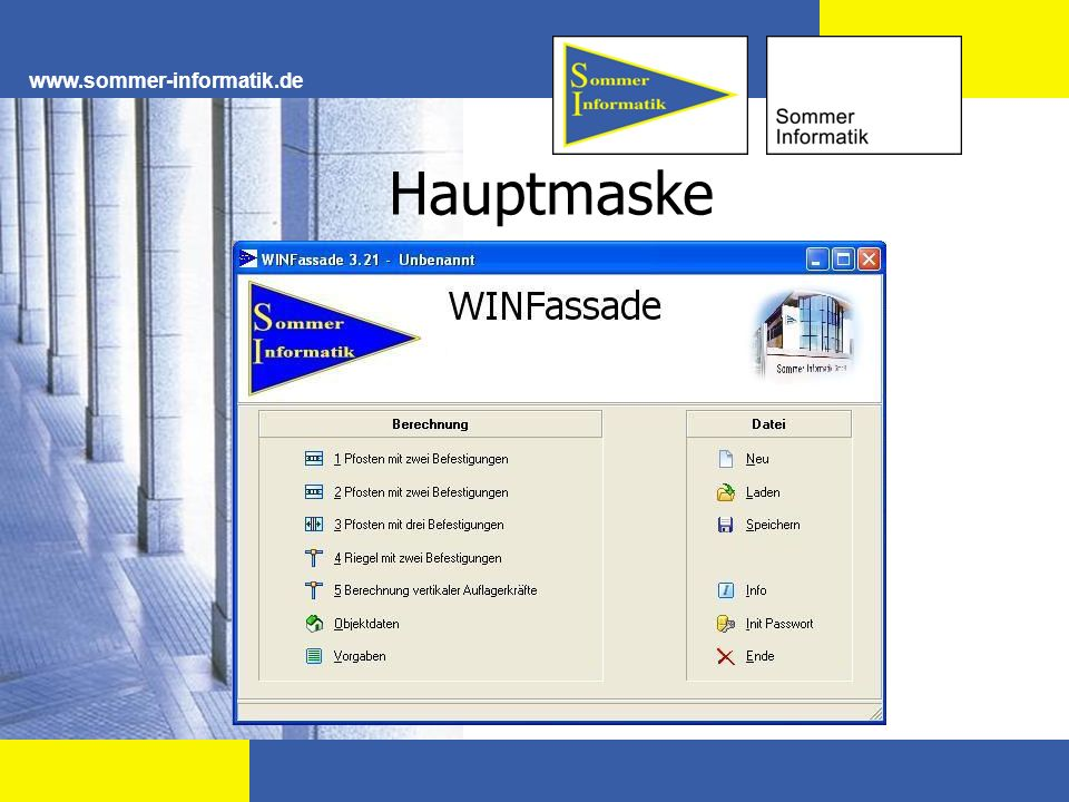 www.sommer-informatik.de Hauptmaske