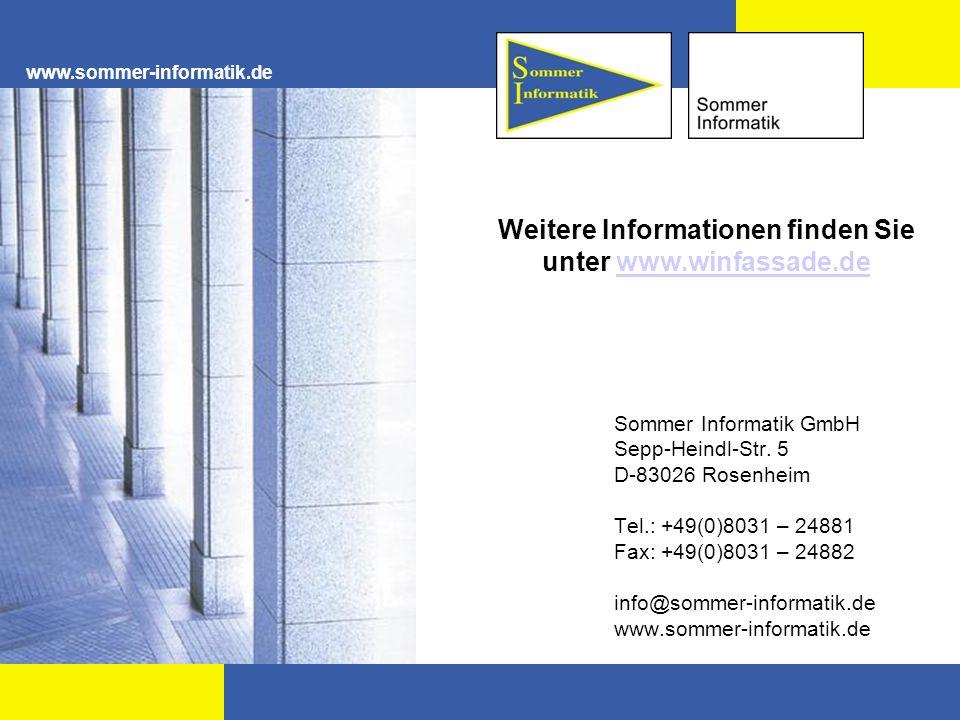 Weitere Informationen finden Sie unter www.winfassade.de