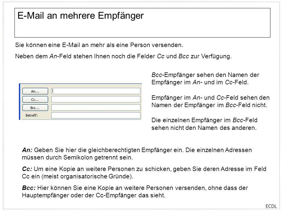 E-Mail an mehrere Empfänger
