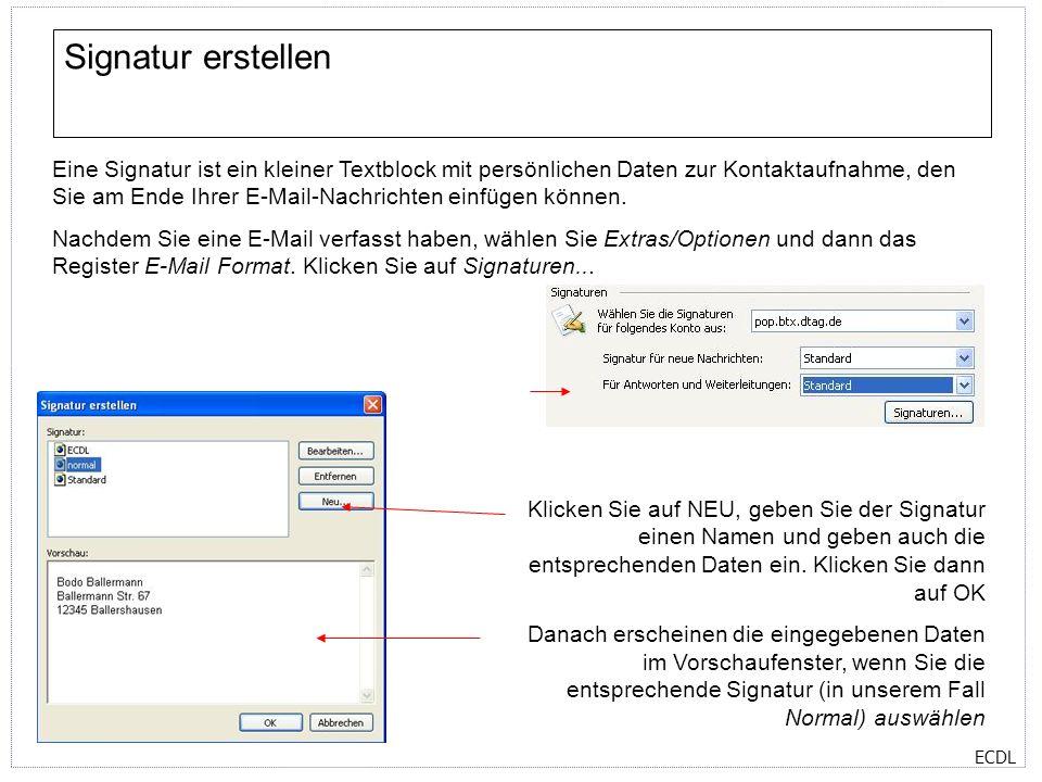 Signatur erstellen