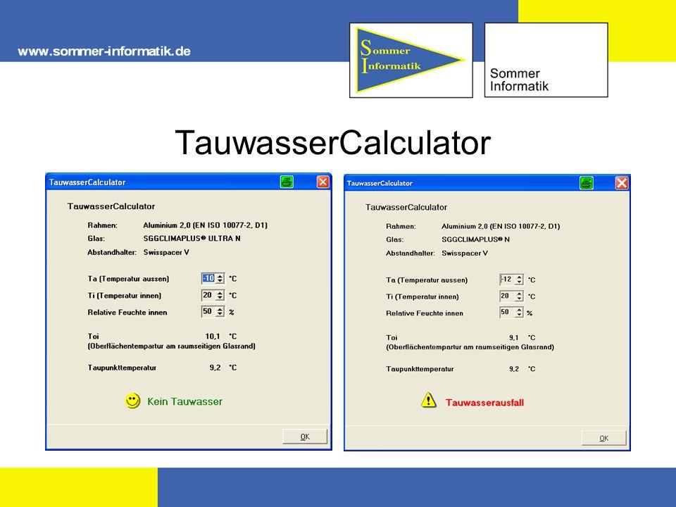 TauwasserCalculator