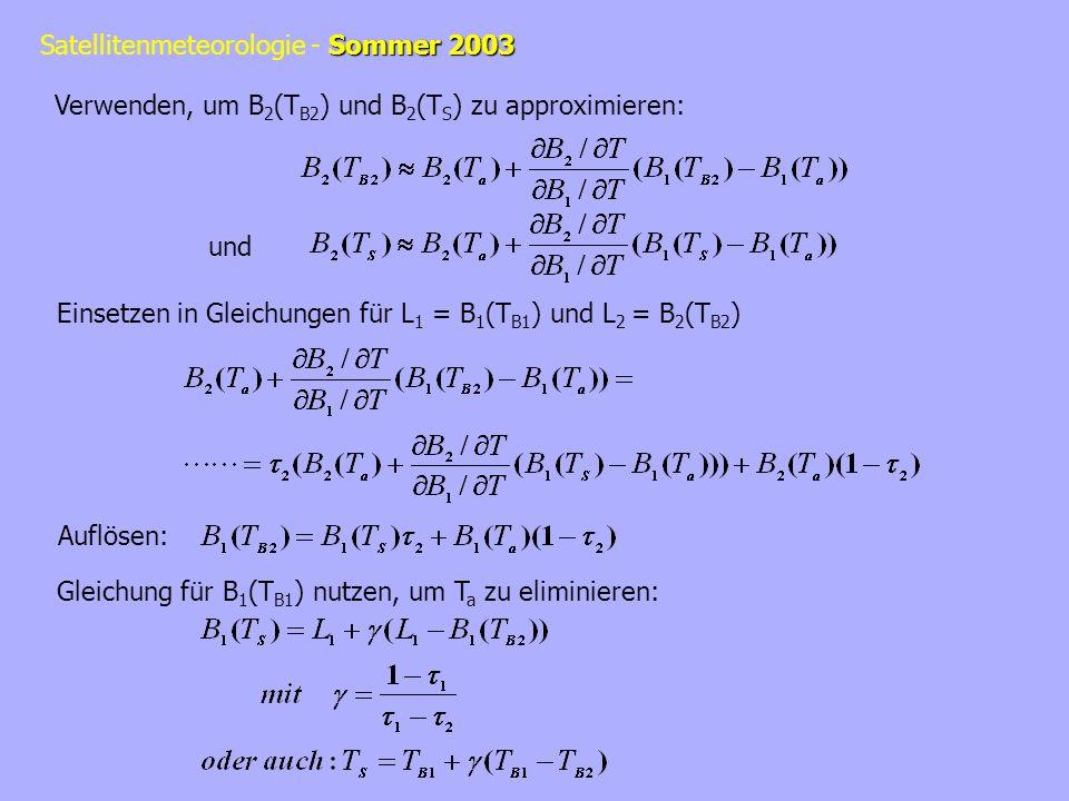 Verwenden, um B2(TB2) und B2(TS) zu approximieren: